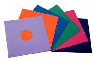 "12"" Coloured Card LP Sleeves - Pack of 50 - Mixed Colours"
